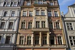 Riga, Smilsu 2, architecte d'Art Nouveau - Constantin PÄ ¡ Ä «NS «de kÅ photographie stock