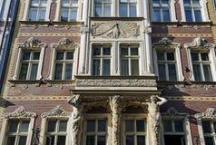 "Riga Smilsu 2, Art Nouveau, arkitekt - Constantin PÄ ""kÅ¡ Ä ""ns Royaltyfria Foton"