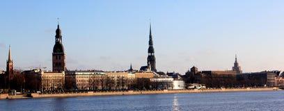 Riga stadspanorama Royaltyfria Bilder