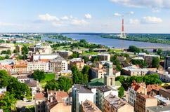 Riga stadssikt Arkivfoto