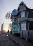 Riga-Stadt von Kontrasten Stockfotografie