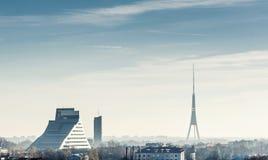 Riga-Stadtskyline lizenzfreie stockfotografie