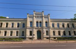 Riga State Gymnasium No.1 (1874) Royalty Free Stock Photos