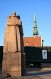Riga - Statue of Occupation. Capital of Latvia Riga, Baltic states. Largest city in Baltic Royalty Free Stock Photography