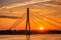 Riga sunset sky Royalty Free Stock Images