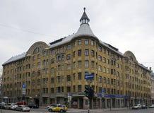Riga Terbatas 59-61, Art Nouveau byggnad Royaltyfria Foton