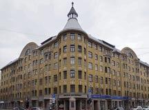 Riga, Terbatas 59-61, bâtiment d'Art Nouveau photo stock