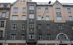 Riga, Terbatas 6-8, calle de Art Nouveau Foto de archivo libre de regalías