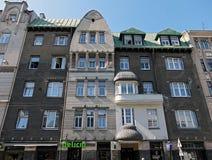 Riga, Terbatas 33-35, calle de Art Nouveau Fotos de archivo