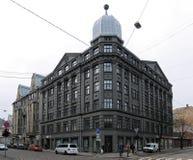 Riga, Terbatas 53, costruente nello stile retrospettivo fotografie stock