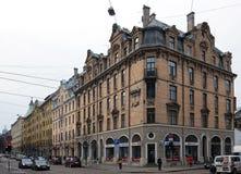 Riga Terbatas 61-65, fjärdedel av det sena - th 19, tidigt - århundradet för th 20 Royaltyfria Foton