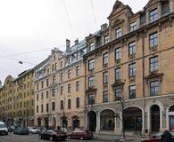 Riga, Terbatas 61-65, quarto de Art Nouveau Fotos de Stock