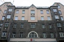 Riga, Terbatas 6-8, rue d'Art Nouveau image stock
