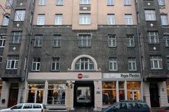 Riga, Terbatas 6-8, rue d'Art Nouveau image libre de droits