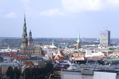 Riga. The top view on the old city. Royalty Free Stock Photo