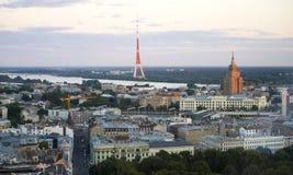 Riga. Top view at sunset Royalty Free Stock Photo