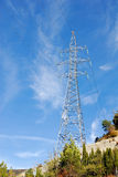 Riga torretta di corrente elettrica Fotografia Stock