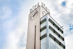 Riga Tower Clock on Central Railway Station. Stock Photos