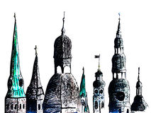 Riga towers Royalty Free Stock Images
