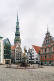 Riga Town Hall Square Royalty Free Stock Photography