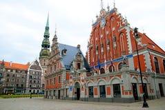 Riga Town Hall Square Royalty Free Stock Photos