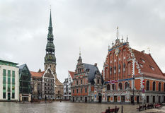 Riga Town Hall Square Stock Photography
