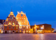 Riga. Town Square at night Stock Image