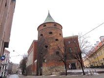 Riga town street, Latvia Royalty Free Stock Image