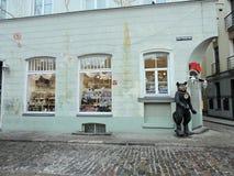 Riga town street, Latvia Stock Photos
