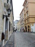 Riga town street, Latvia Stock Photo