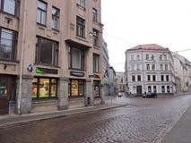Riga town street, Latvia Royalty Free Stock Photo
