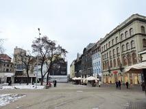 Riga town street, Latvia Royalty Free Stock Photos