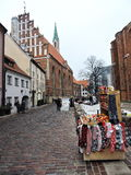 Riga town street, Latvia Stock Photography