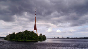 Riga. TV tower. TV tower on a background of Riga Stock Images
