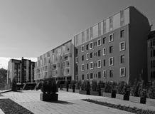 Riga, una nueva vecindad en el centro de la ciudad Imagenes de archivo