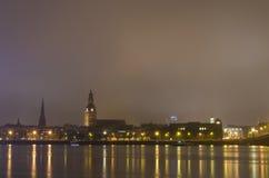 Riga vóór het vuurwerk Royalty-vrije Stock Afbeeldingen