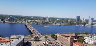 Riga van een mening van het vogel` s oog Royalty-vrije Stock Afbeeldingen