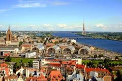 Riga van hierboven stock afbeelding