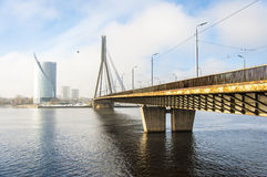 Riga Vansu Bridge 01 Stock Image