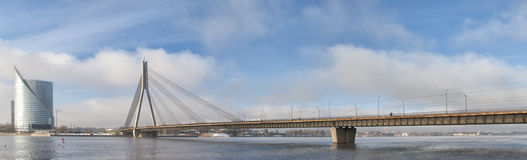 Riga Vansu Bridge 02 Royalty Free Stock Photography