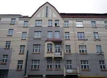 Riga, via di Aleksandra Caka 55, monumenti storici Immagini Stock Libere da Diritti