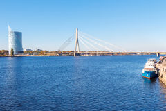 Riga. View of the River Daugava Royalty Free Stock Photography