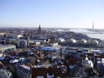 Riga. View of Riga from St Peter`s Church Tower Royalty Free Stock Photography