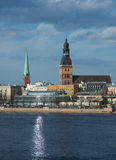 Riga - view from the water Royalty Free Stock Image