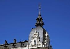 Riga, Vilandes 1, casa com a torreta com elementos de Art Nouveau e ecletismo fotografia de stock