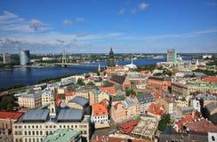 Riga von der Dachspitze der Kathedrale Stockfoto