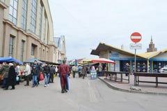 Riga-zentraler Markt Stockfotografie