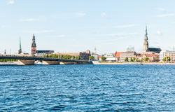 Rigas Cathedral and Saint Peters view, Latvia Stock Photos