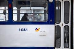 Rigas Satiksme Αγγλικά: Η κυκλοφορία της Ρήγας, είναι μια municipally-κύρια αρχή δημόσιου μέσου μεταφοράς και χώρων στάθμευσης πο στοκ φωτογραφίες