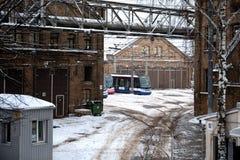 Rigas Satiksme Inglês: O tráfego de Riga, é serviço Riga de uma autoridade municipalmente-possuída do transporte público e do est fotografia de stock